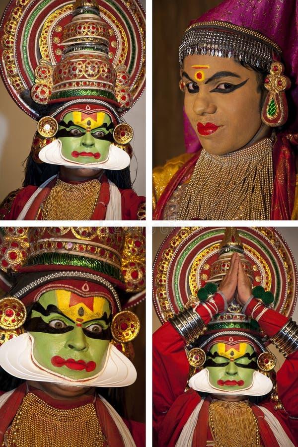 Dançarino de Kathakali - Cochin em India foto de stock