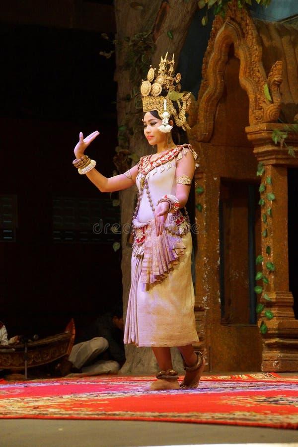 Dançarino de solo de Apsara imagens de stock royalty free