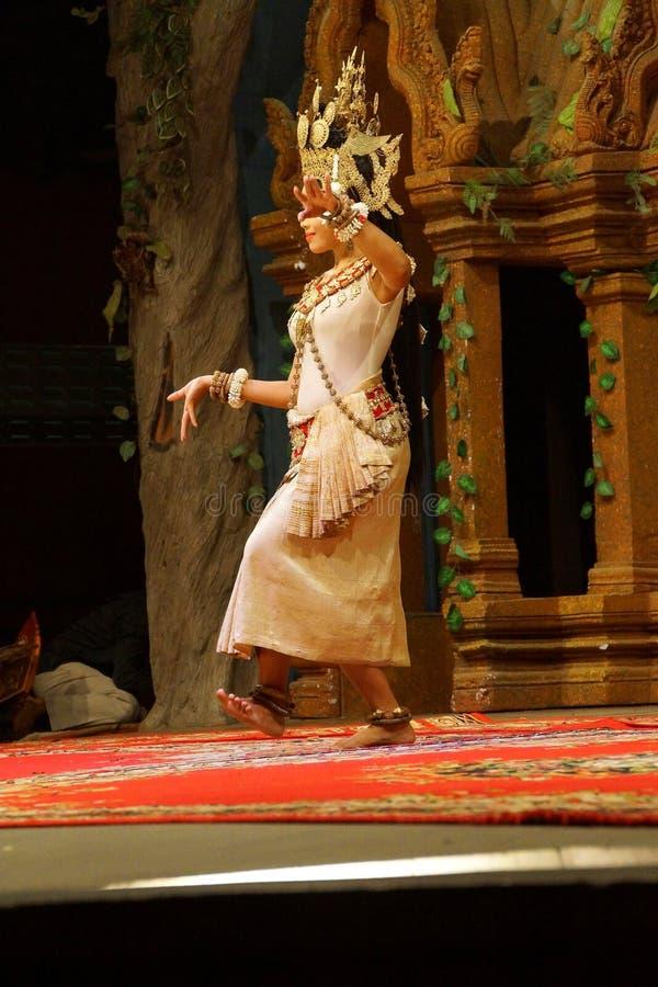 Dançarino de solo de Apsara foto de stock