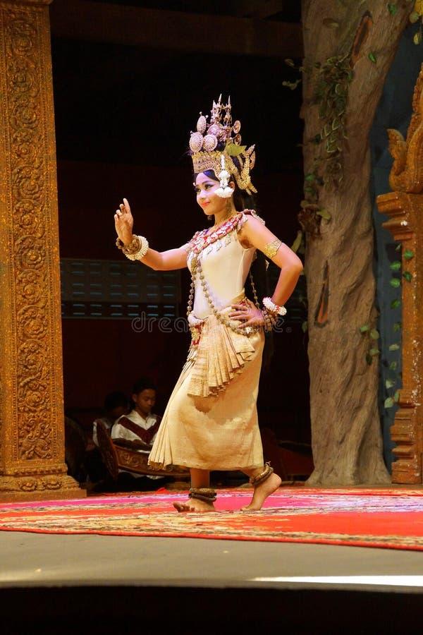 Dançarino de solo de Apsara foto de stock royalty free