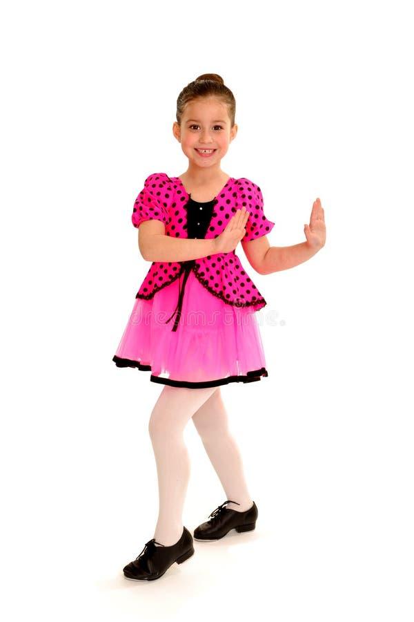 Dançarino de torneira de sorriso imagens de stock