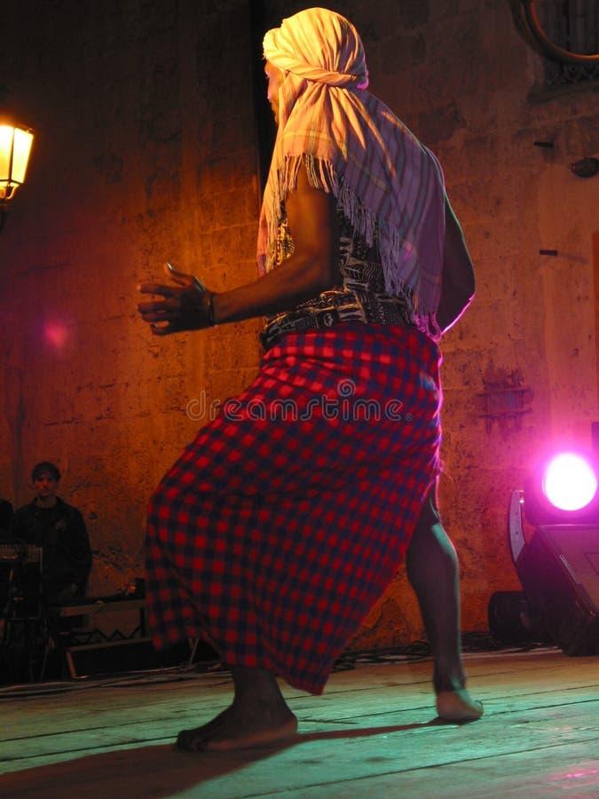 Dançarino do Afro foto de stock royalty free