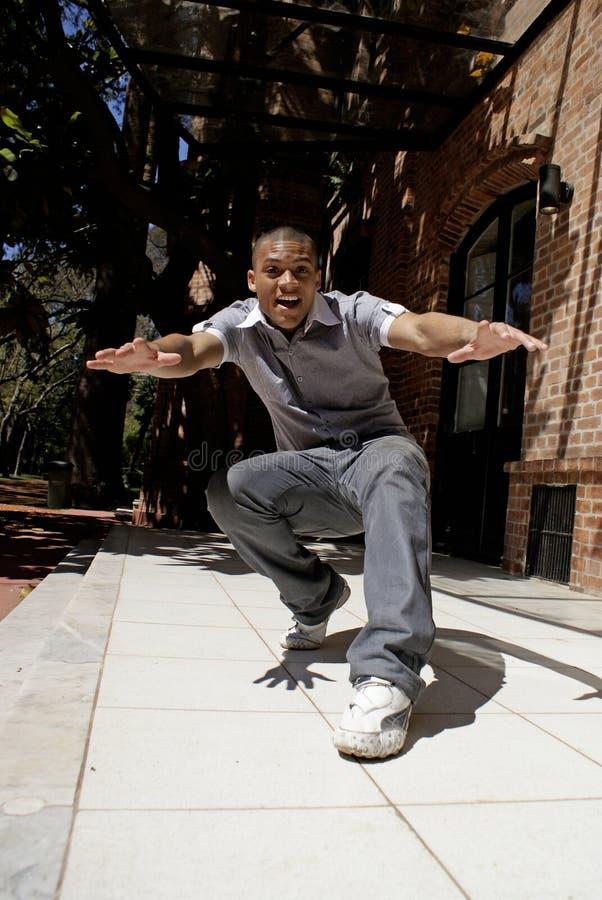 Dançarino do americano africano fotografia de stock royalty free