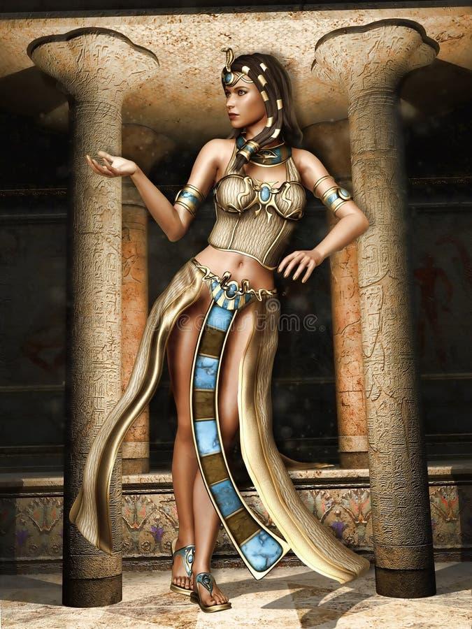 Dançarino do egípcio da fantasia ilustração do vetor