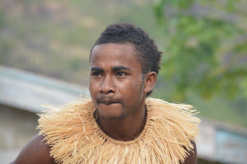 Dançarino do Fijian foto de stock royalty free