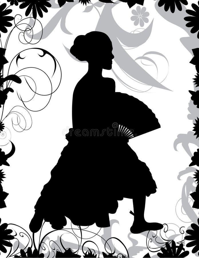 Dançarino do Flamenco ilustração royalty free