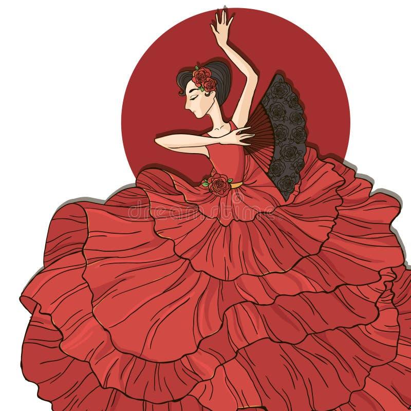 Dançarino do Flamenco ilustração do vetor