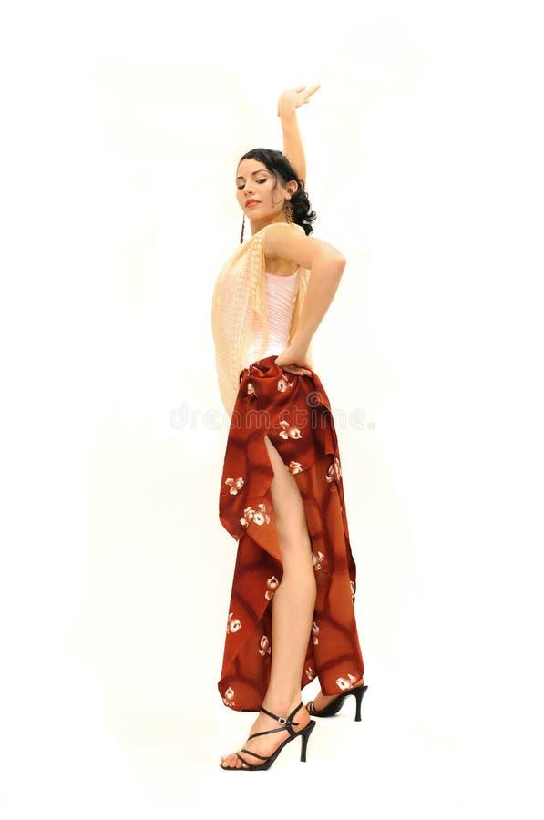 Dançarino do flamenco foto de stock