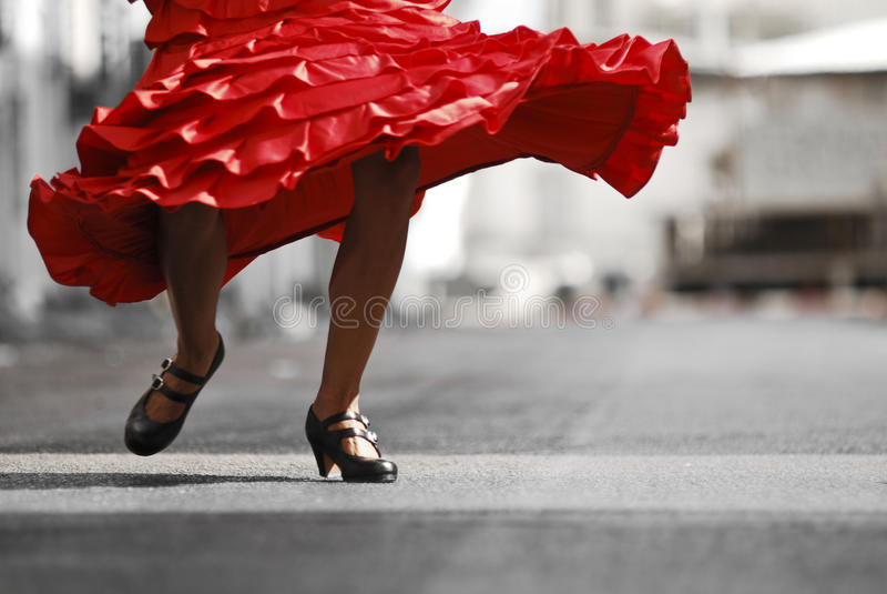 Dançarino do Flamenco na ação foto de stock