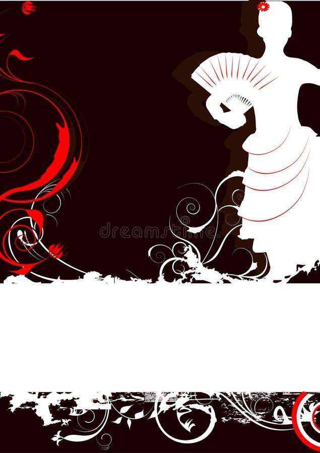 Dançarino do flamingo ilustração stock