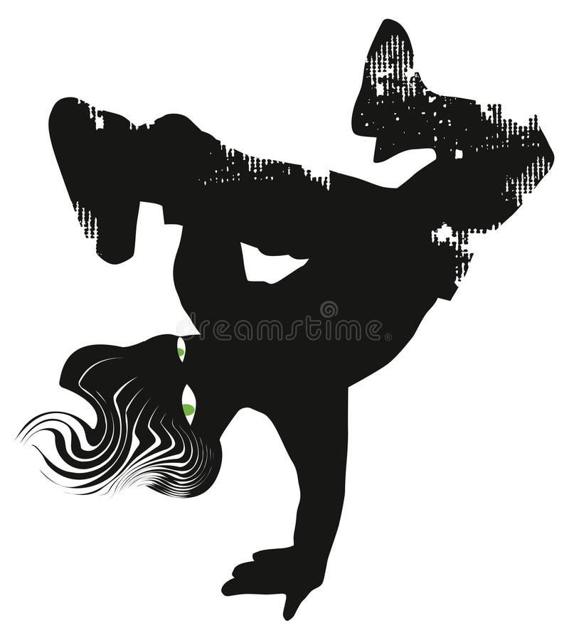 Dançarino do hip-hop Miúdo à moda Ilustração imagens de stock royalty free