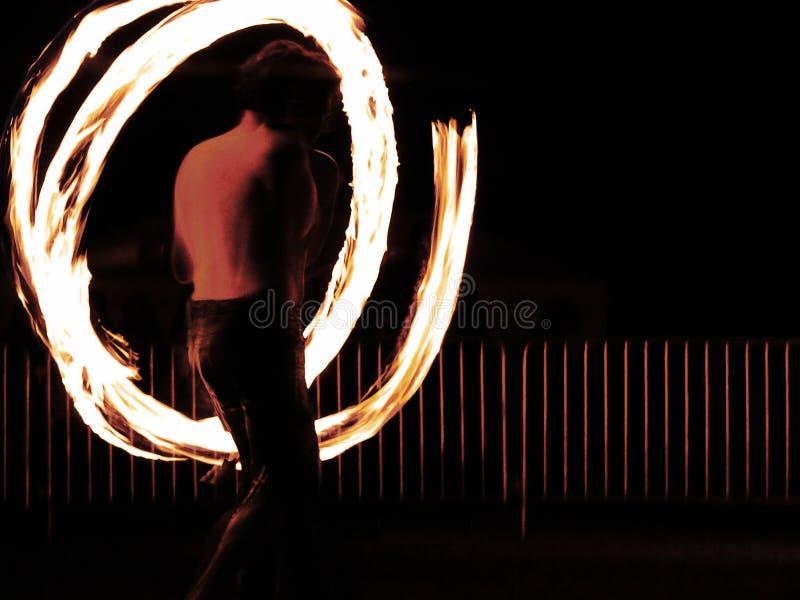 Dançarino do incêndio fotos de stock