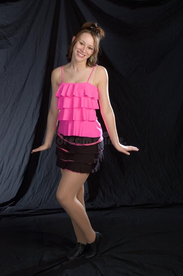 Dançarino do jazz na cor-de-rosa imagem de stock