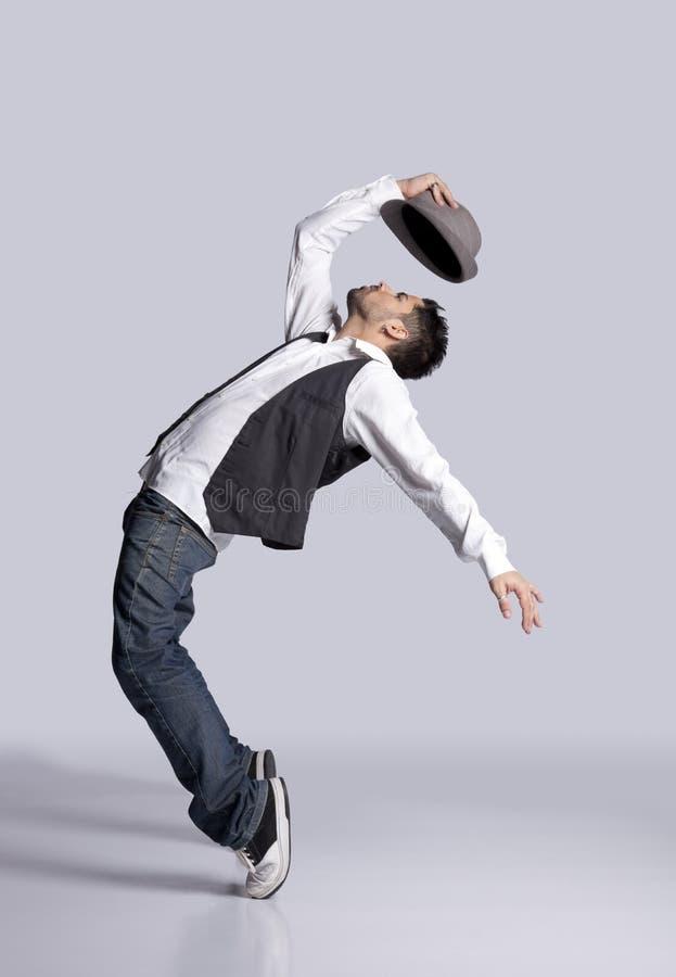 Dançarino do lúpulo do quadril imagem de stock