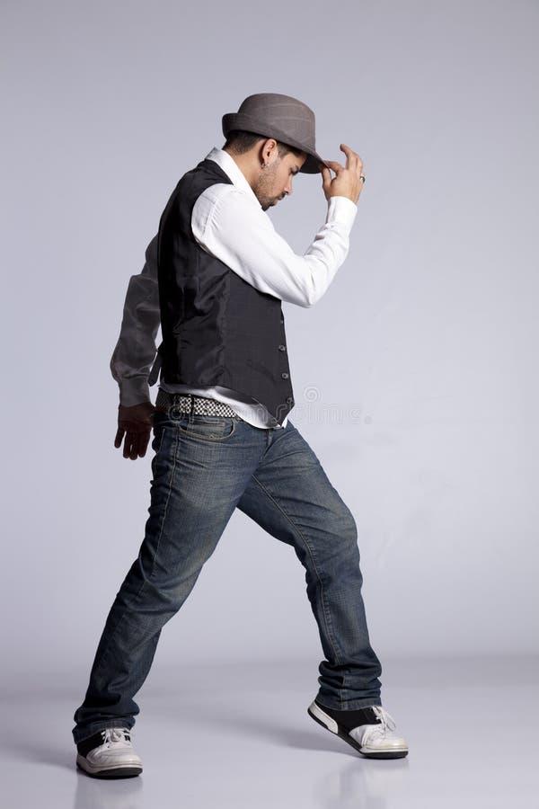 Dançarino do lúpulo do quadril imagens de stock