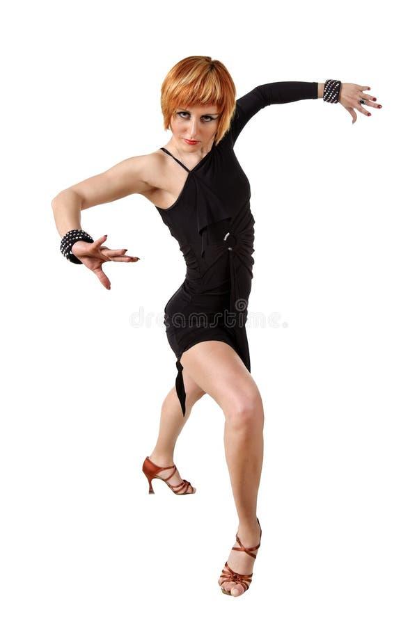 Dançarino do Latino da elegância fotos de stock