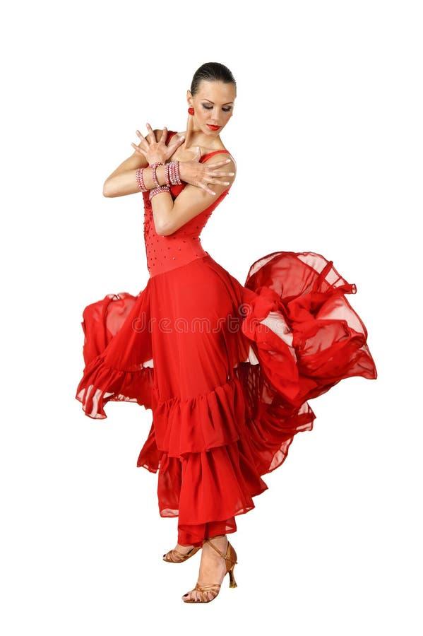 Dançarino do Latino na ação fotos de stock