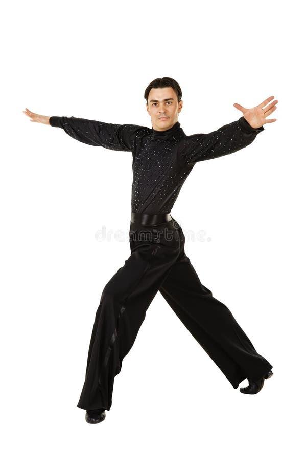 Dançarino do Latino na ação fotografia de stock royalty free