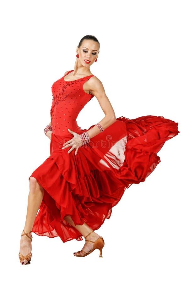 Dançarino do Latino na ação fotos de stock royalty free