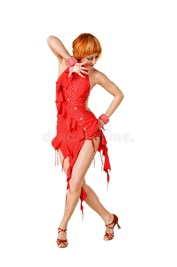 Dançarino do Latino na ação imagens de stock