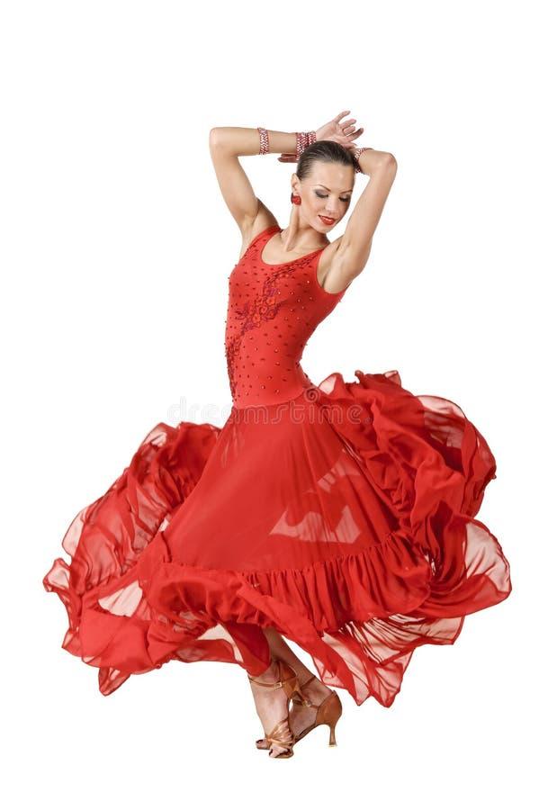 Dançarino do Latino na ação foto de stock