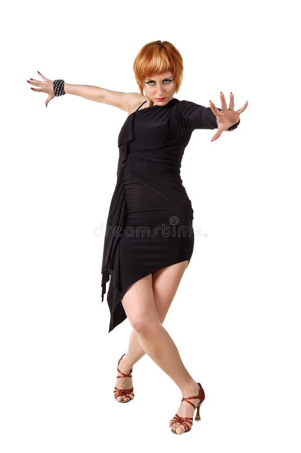 Dançarino do Latino na ação fotografia de stock