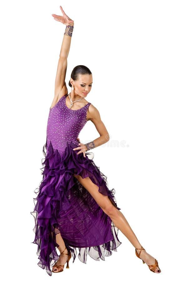Dançarino do Latino na ação. Isolado no branco imagens de stock