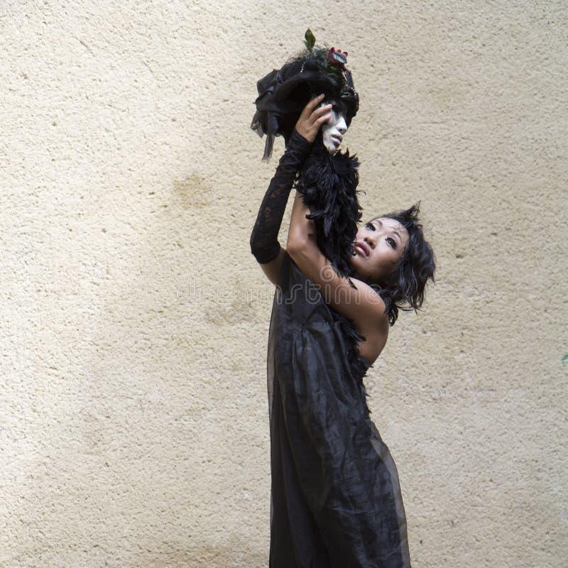 Dançarino e mime Barbara Murata imagens de stock