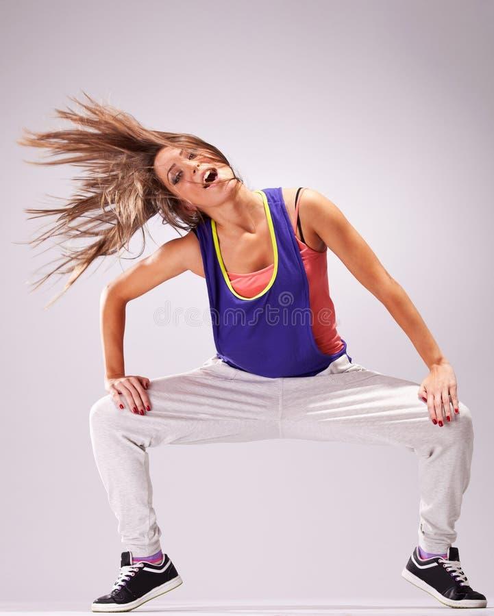 Dançarino em um pose apaixonado da dança fotografia de stock royalty free