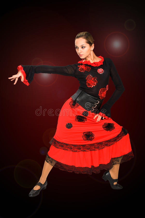 Dançarino espanhol bonito. foto de stock