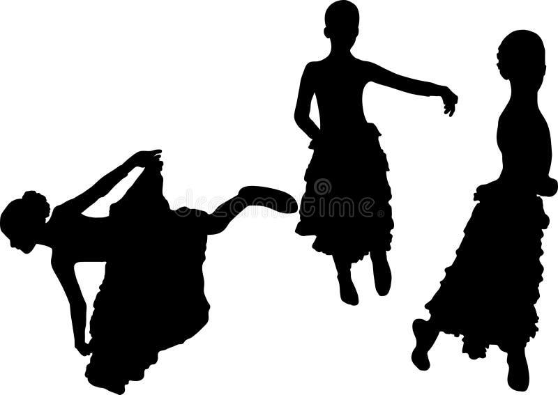 Dançarino espanhol do flamenco ilustração do vetor