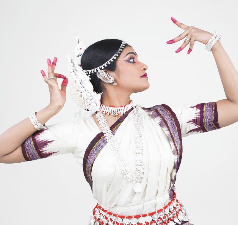 Dançarino fêmea clássico indiano fotos de stock royalty free