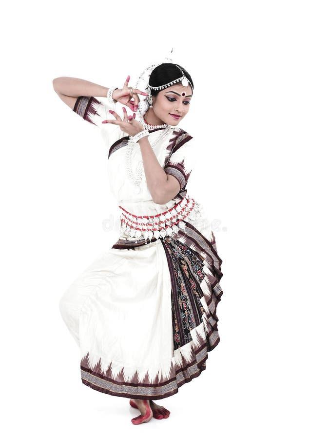 Dançarino fêmea indiano clássico imagens de stock royalty free