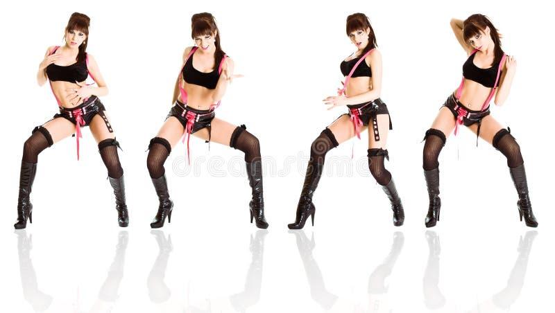 Dançarino fêmea novo que perfoming imagens de stock royalty free
