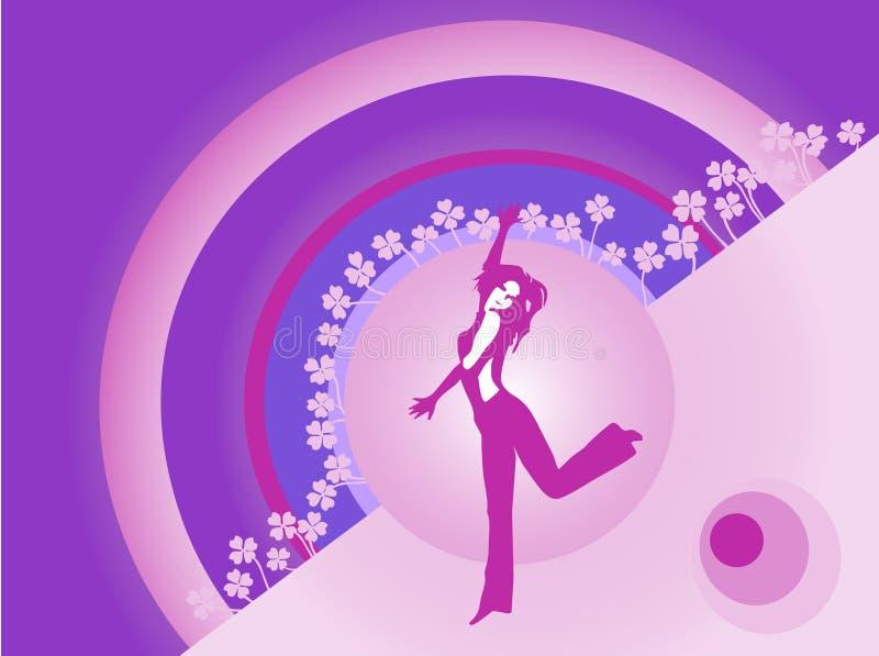 Dançarino feliz ilustração stock
