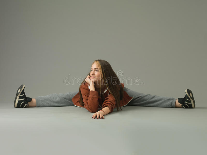Dançarino feliz do estilo livre fotografia de stock royalty free