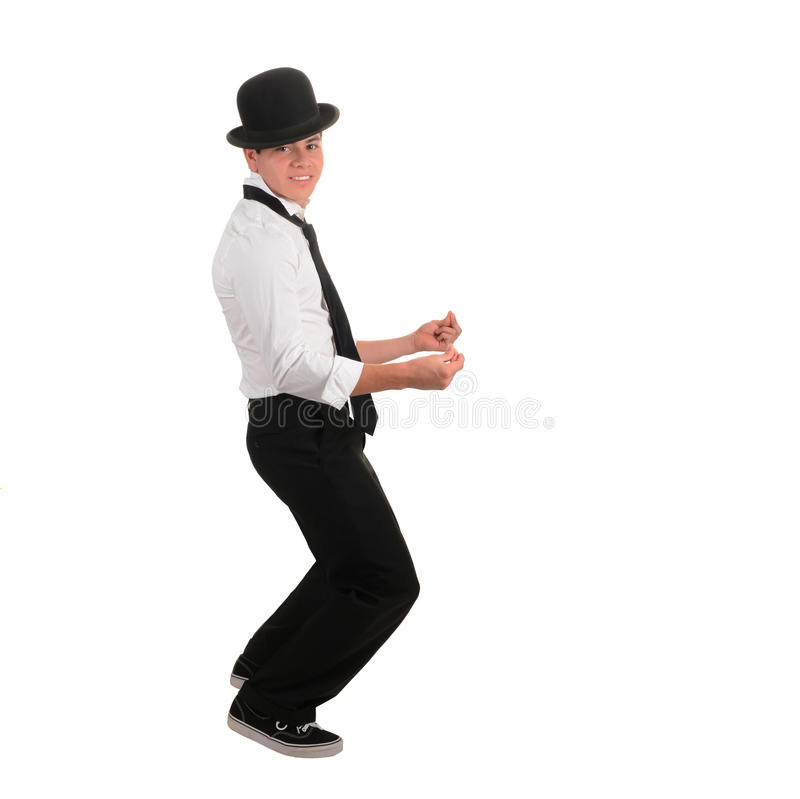 Dançarino feliz do Latino fotografia de stock