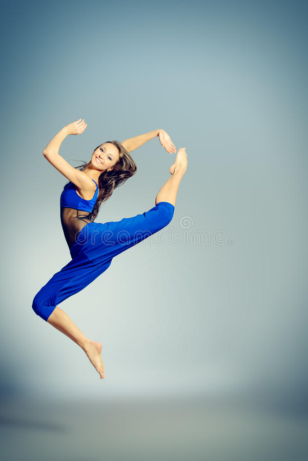 Dançarino flexível foto de stock royalty free