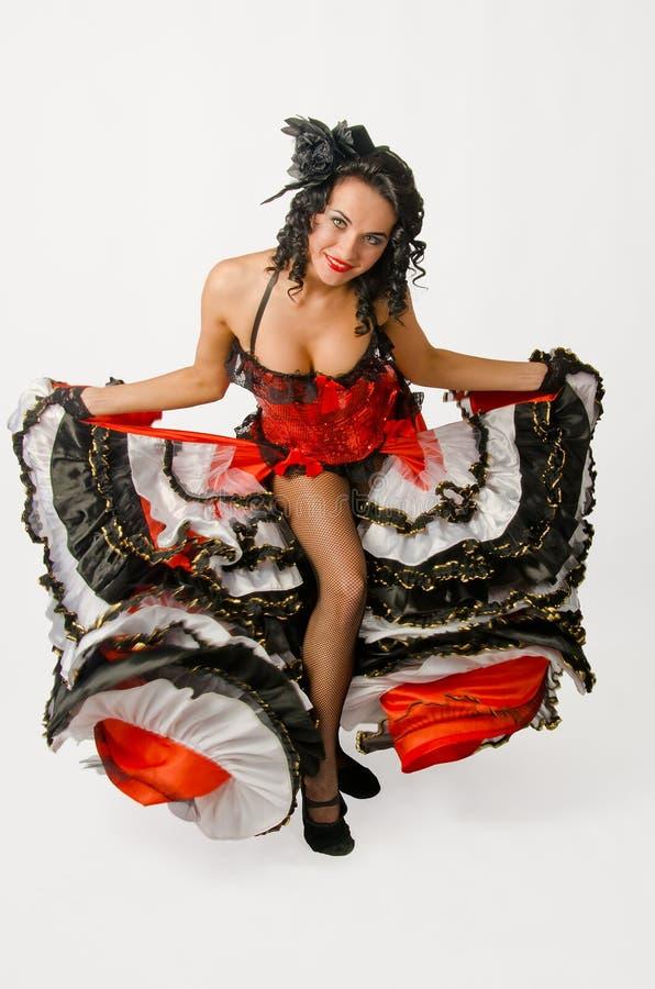 Dançarino francês da cancã fotos de stock