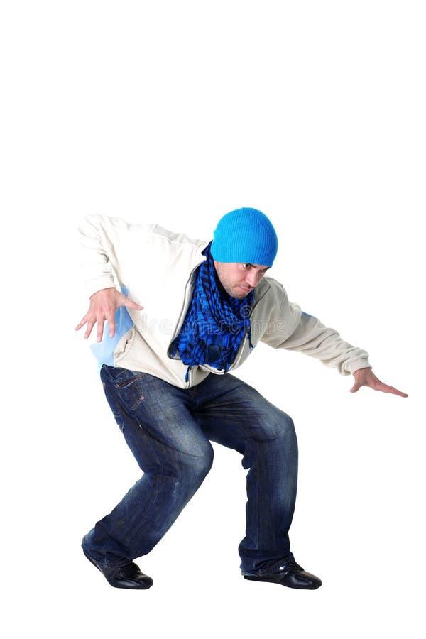 Dançarino fresco do homem moderno imagens de stock
