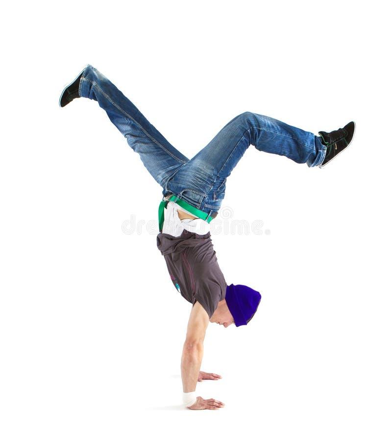 Dançarino fresco que mostra suas habilidades imagem de stock