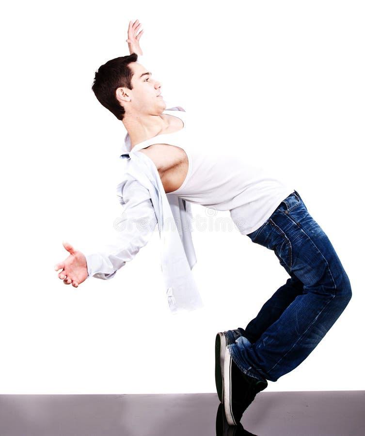 Dançarino fresco que mostra suas habilidades imagem de stock royalty free