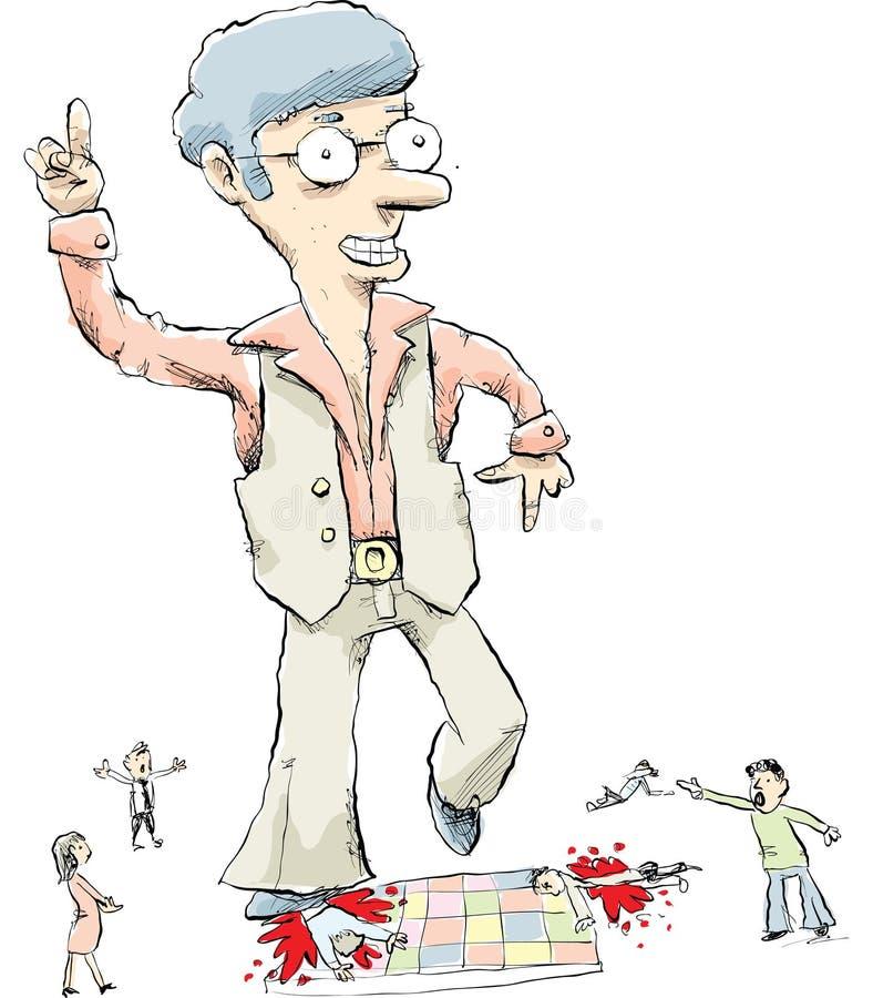 Dançarino gigante do disco ilustração do vetor