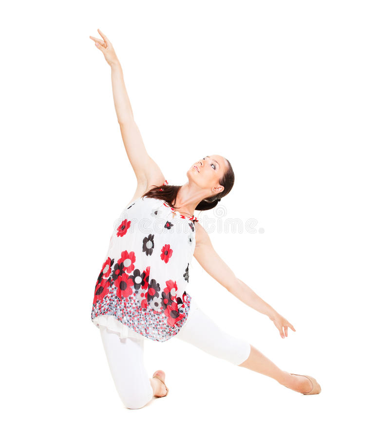Dançarino gracioso fotografia de stock royalty free