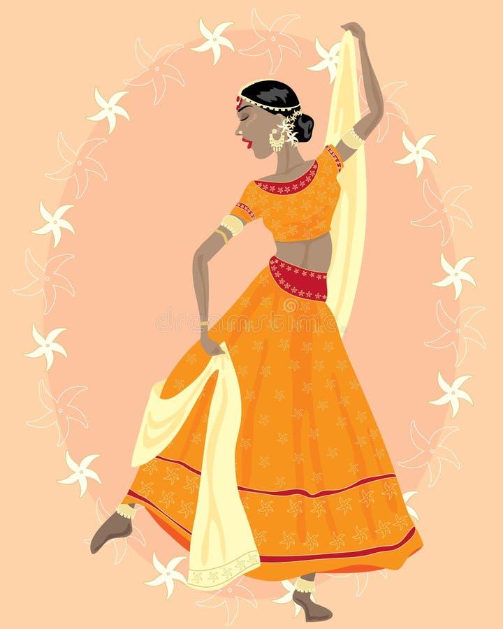 Dançarino indiano ilustração do vetor