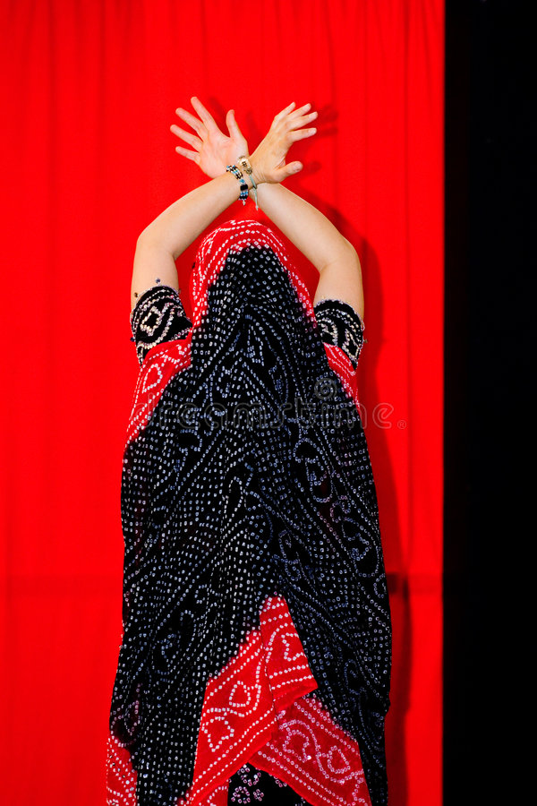 Dançarino indiano foto de stock