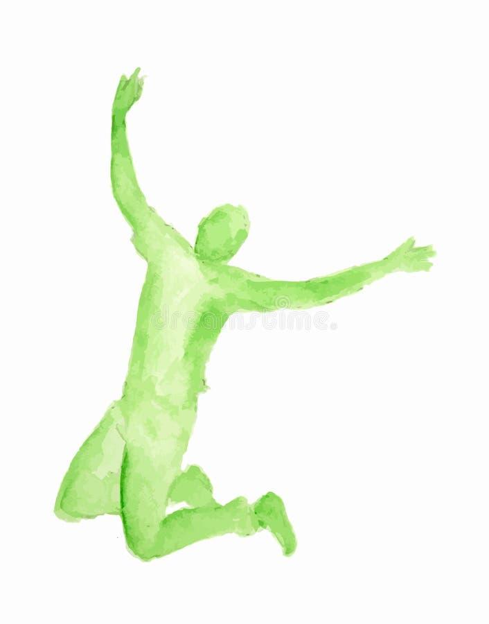 Dançarino isolado da aquarela ilustração royalty free