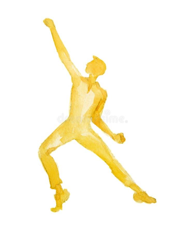 Dançarino isolado da aquarela ilustração do vetor