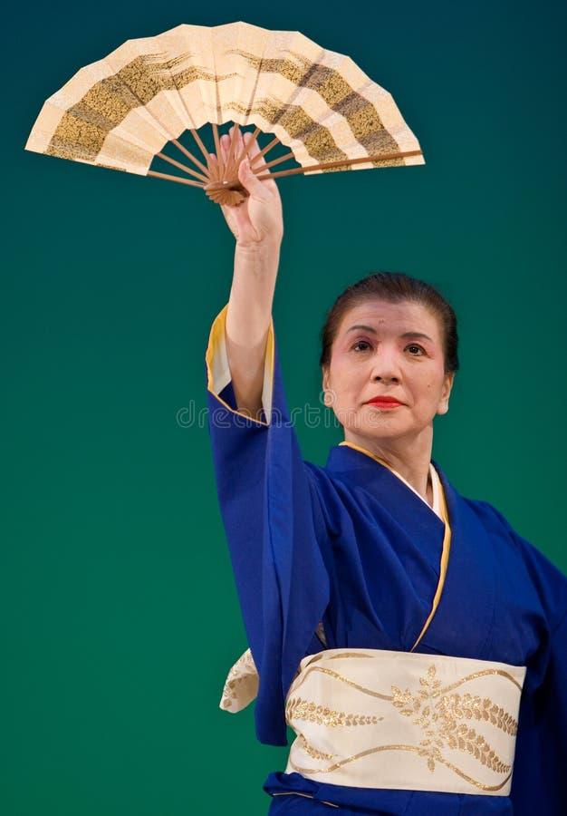 Dançarino japonês do festival imagens de stock