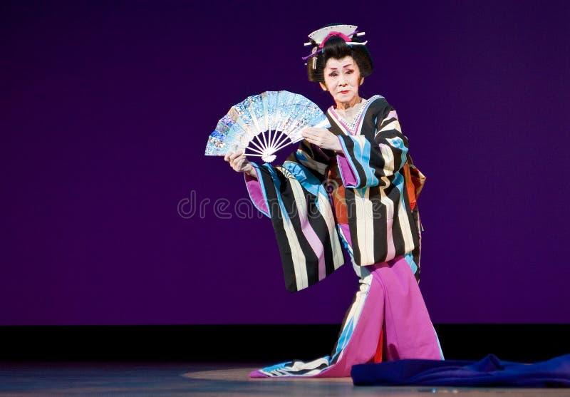 Dançarino japonês idoso do festival imagem de stock royalty free